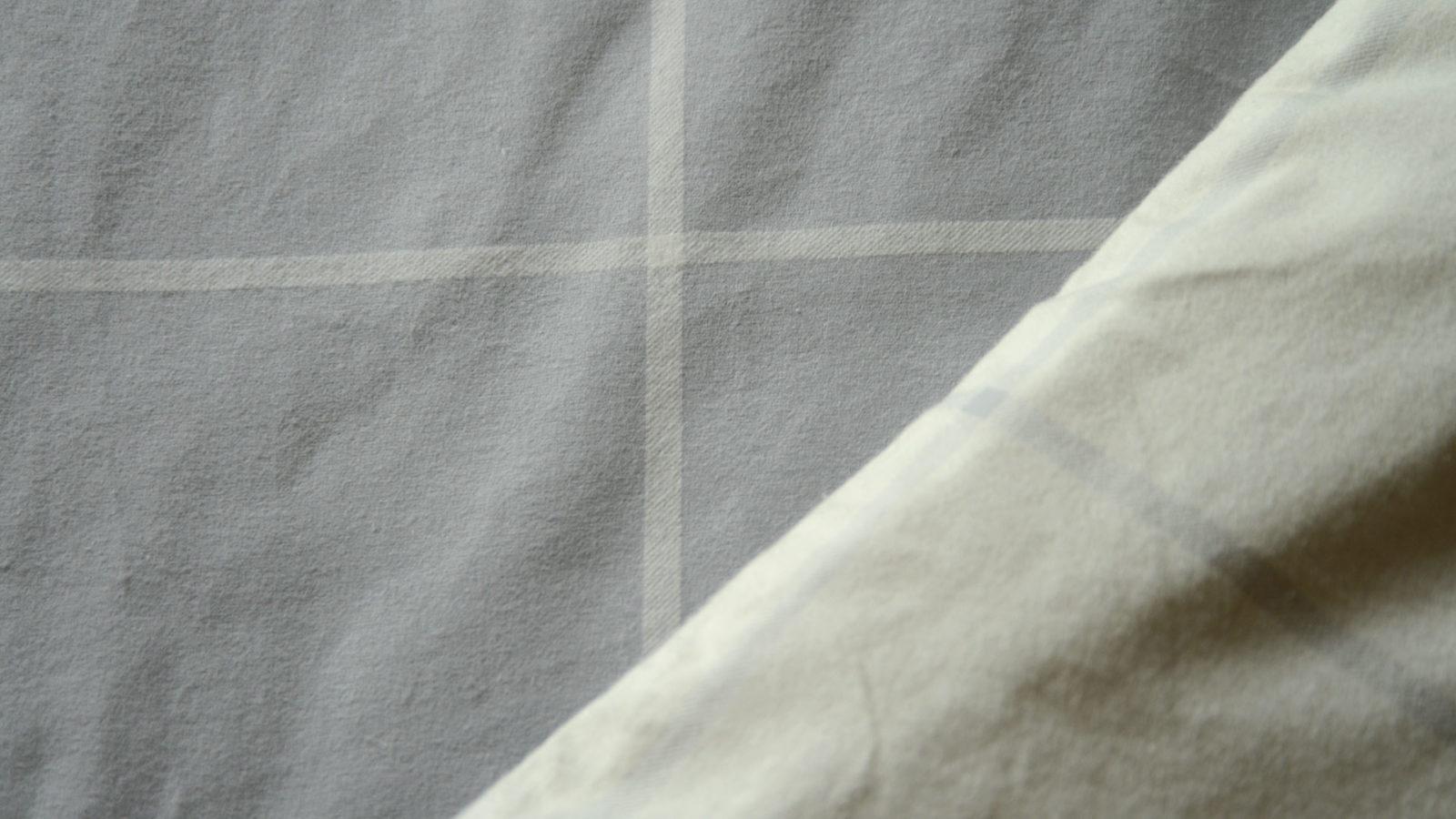 grey & ivory reversible duvet set in brushed cotton