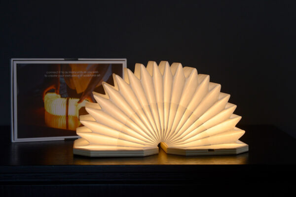 wireless and adjustable bedside light arranged as a semicircle