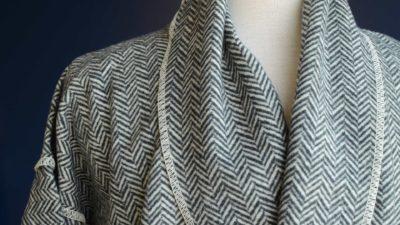 herringbone cosy robe