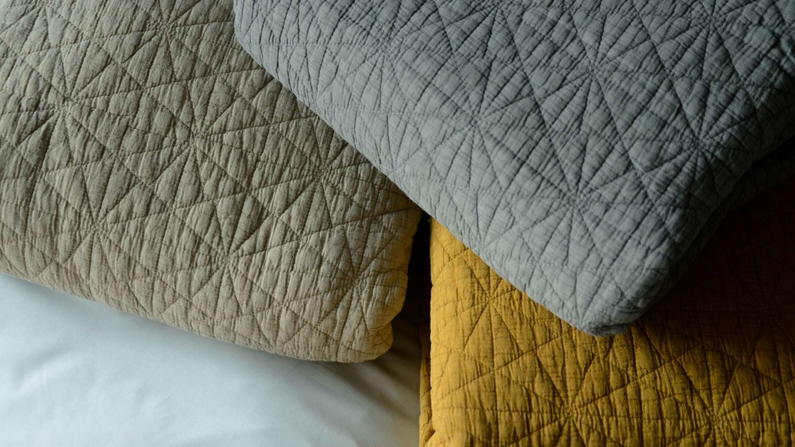 embroidered hexagon bedspreads