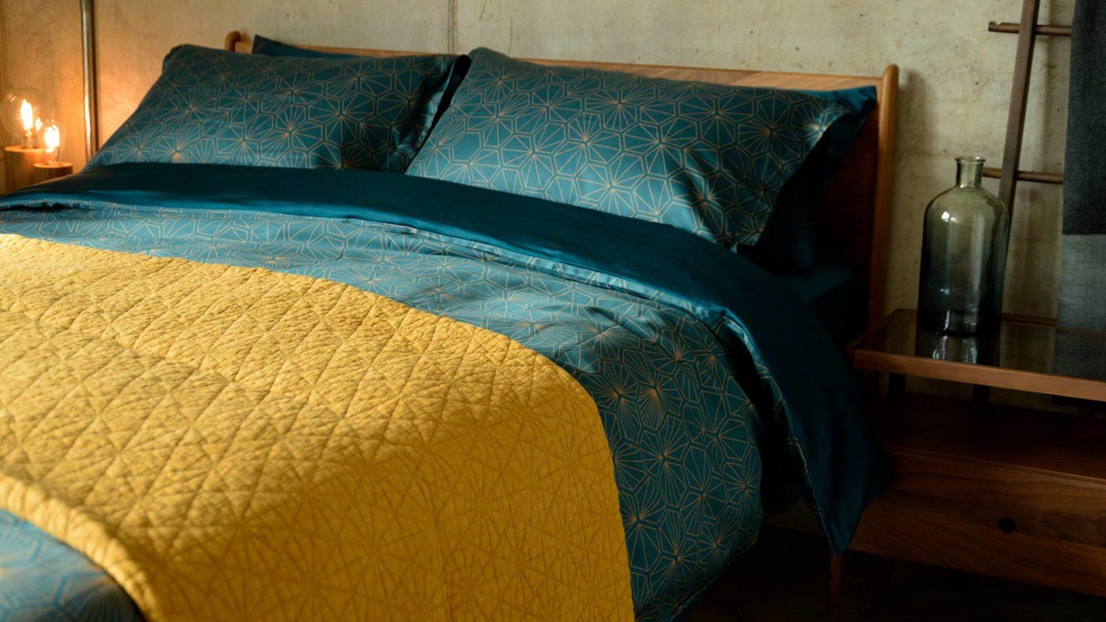 deep ochre bedspread