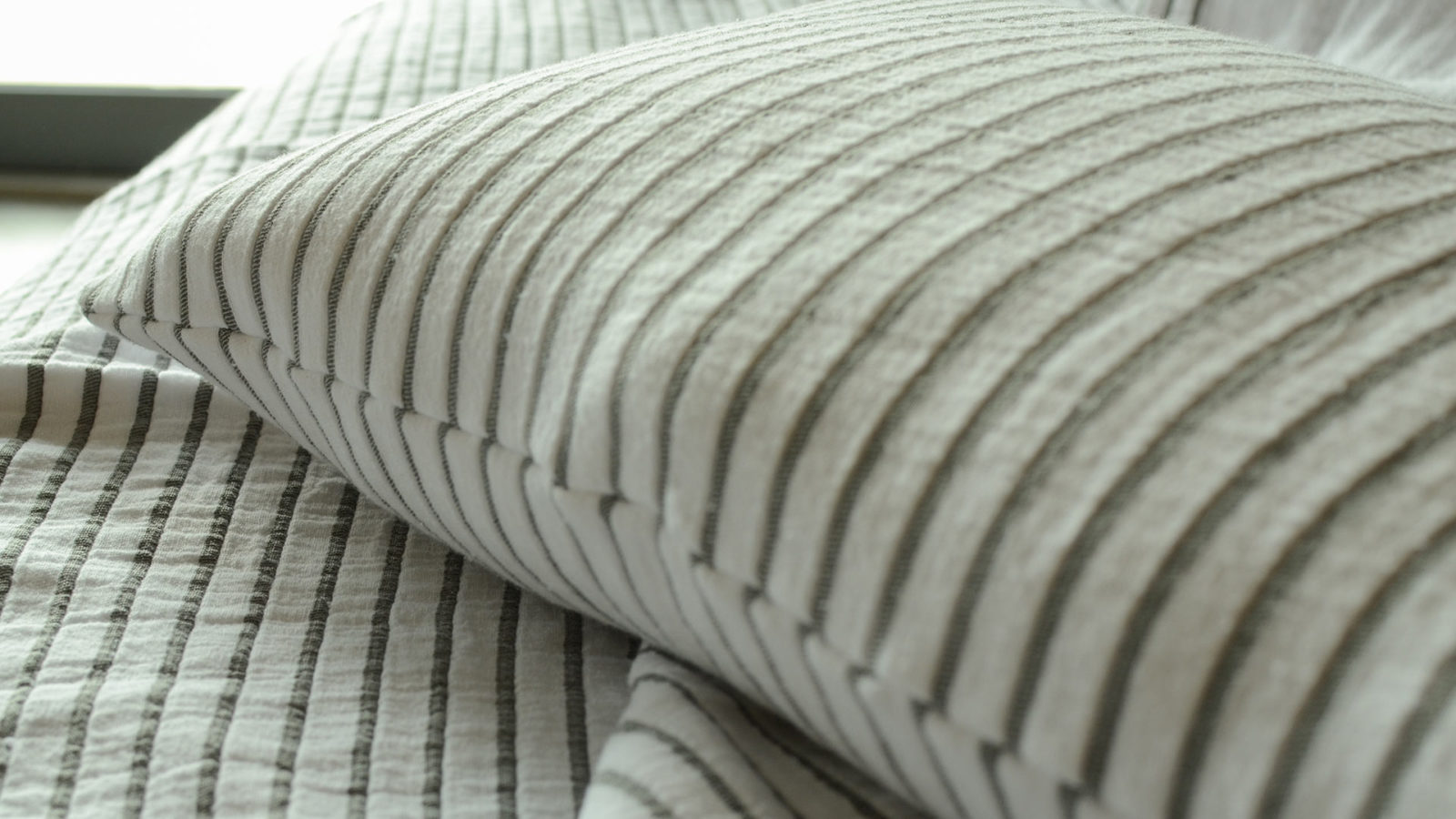 modern striped cushions