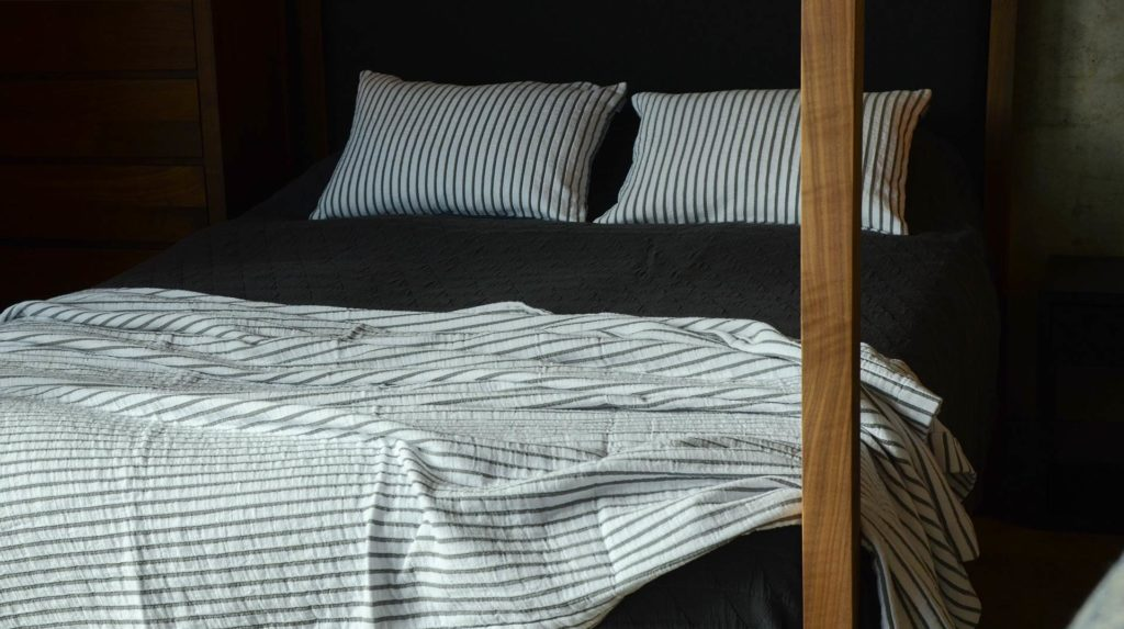 modern striped blanket