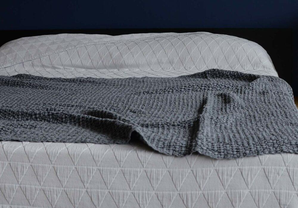 honeycomb-weave-throw-steel-grey