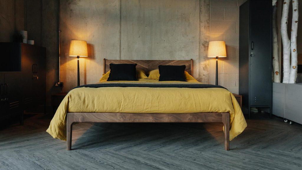 walnut bed - Hoxton