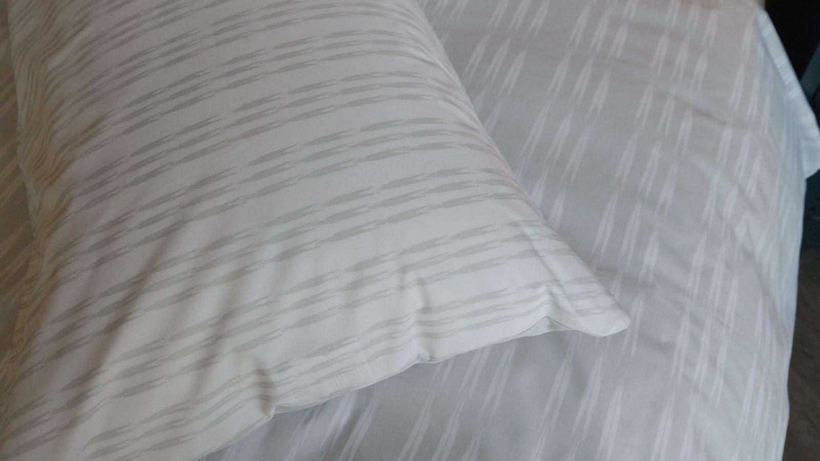 Ikat stripe printed pillowcases