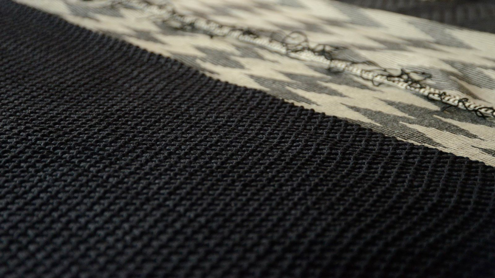 knitted cotton blanket - ink