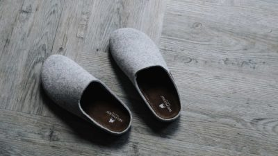 pale grey slippers