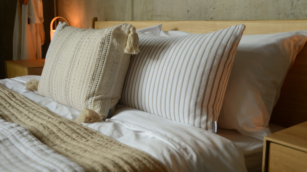 striped cushions