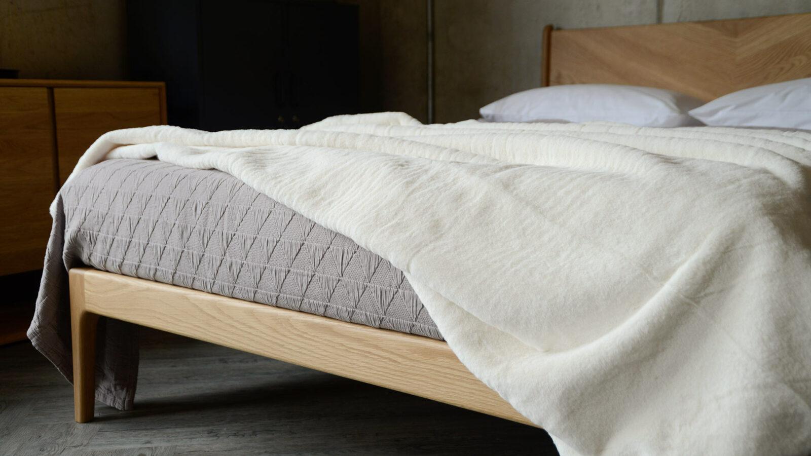ivory colour soft faux fur bedspread