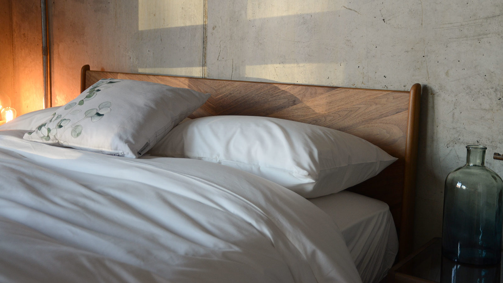 ivory white organic cotton bedding