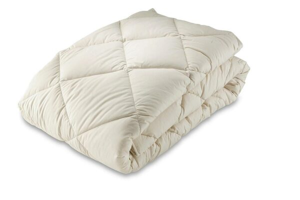 organic cotton and kapok filled natural duvet