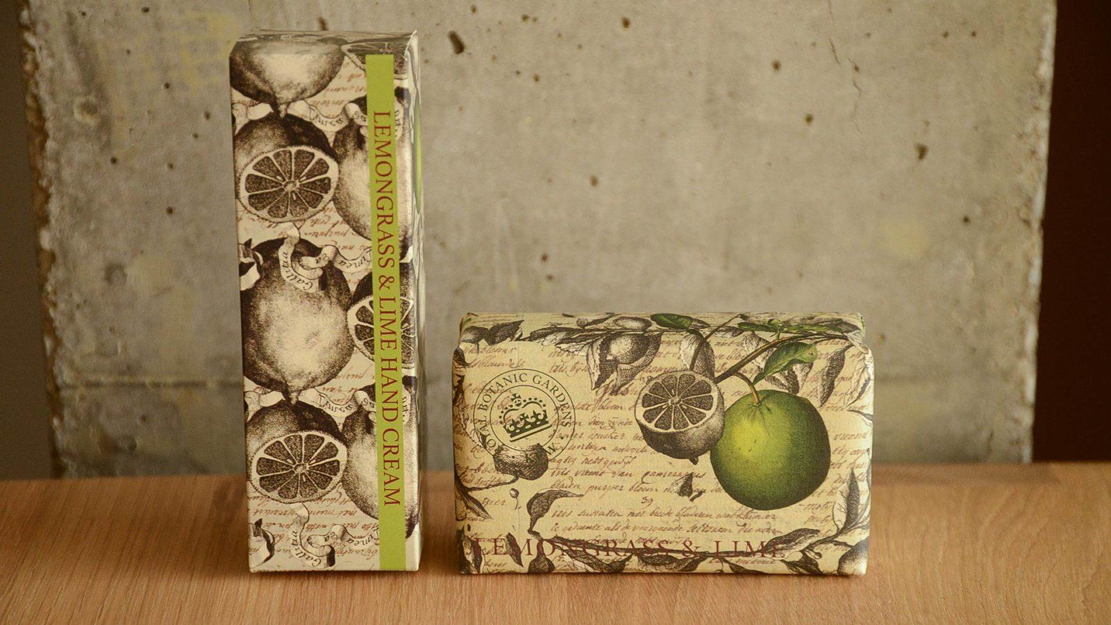 Kew Gardens hand care set lemongrass & lime