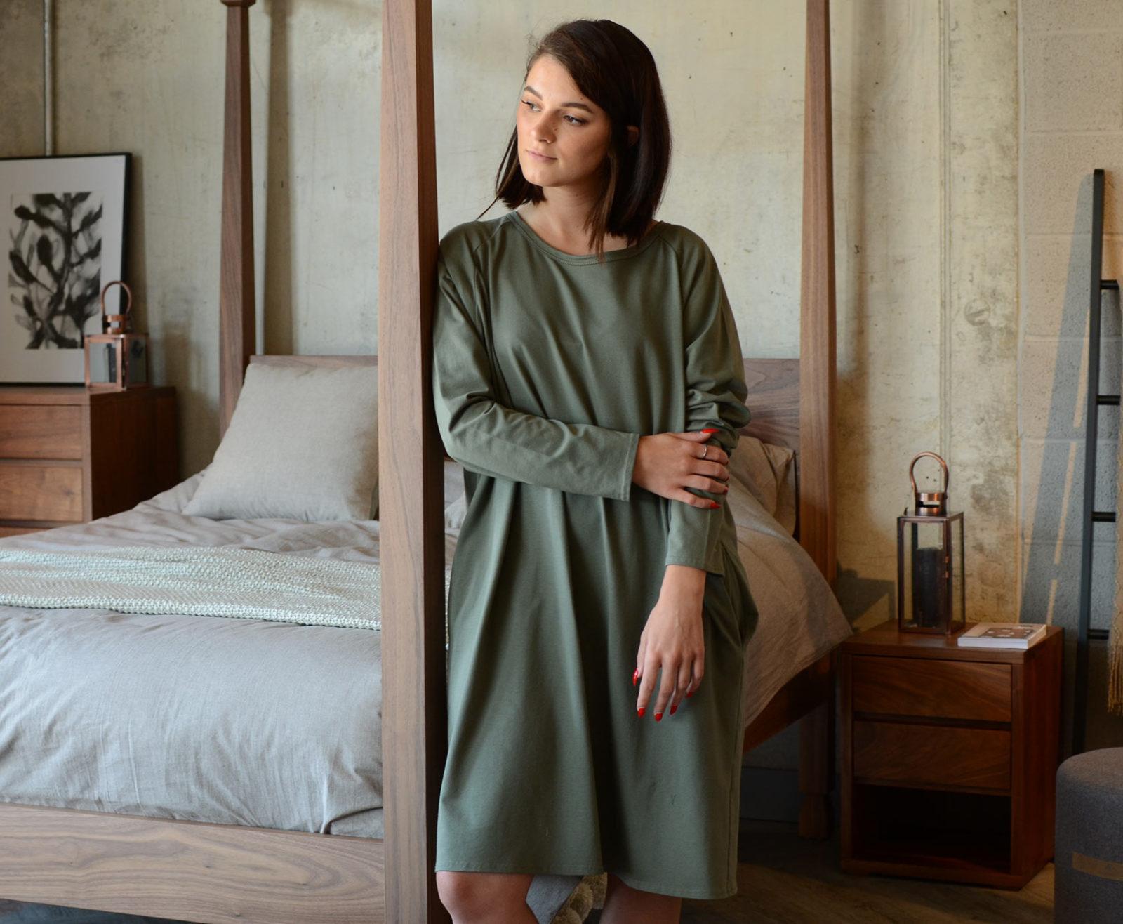 khaki-lounge-wear-slouch-dress