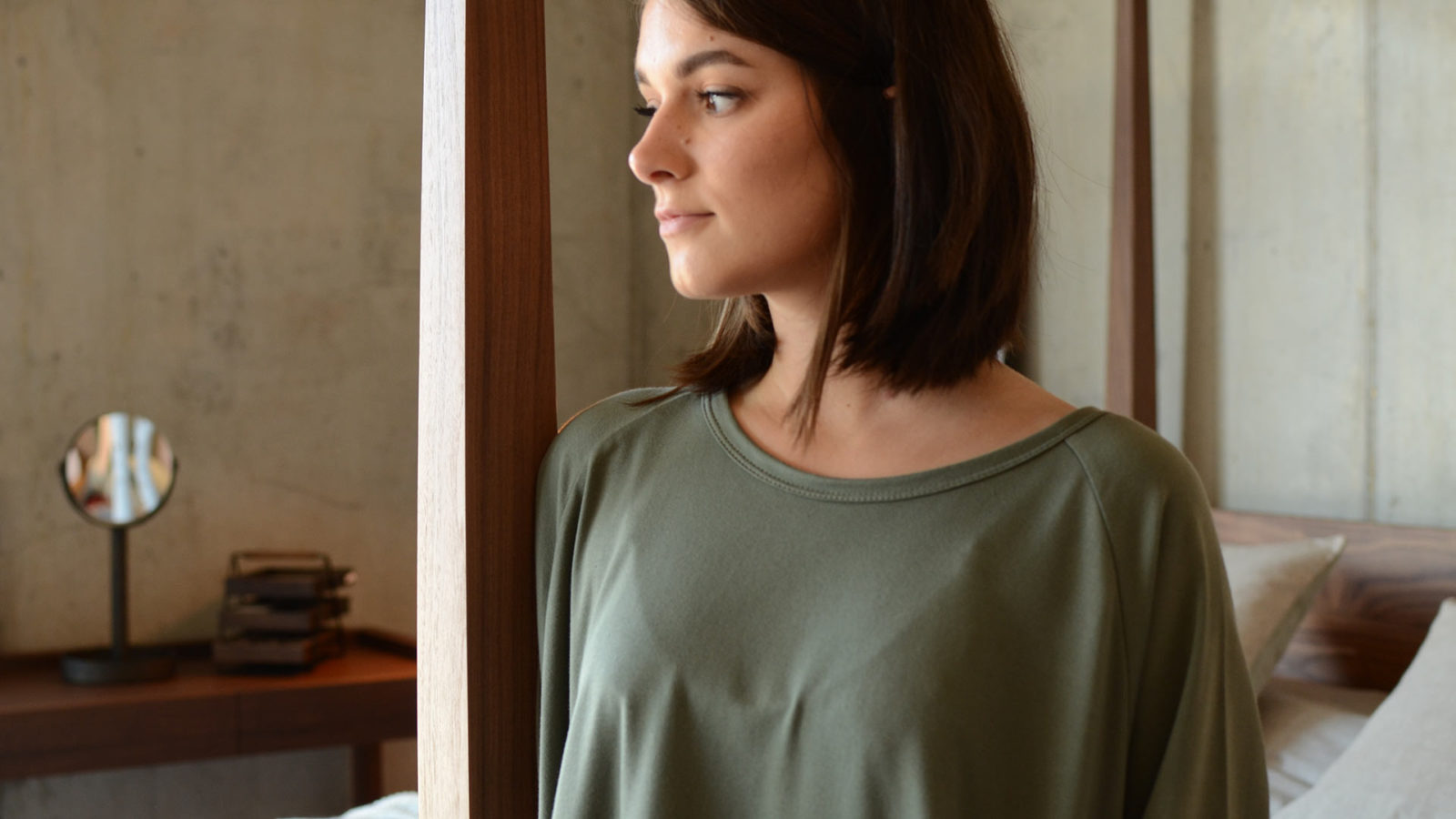 khaki-lounge-wear-slouch-dress-neckline