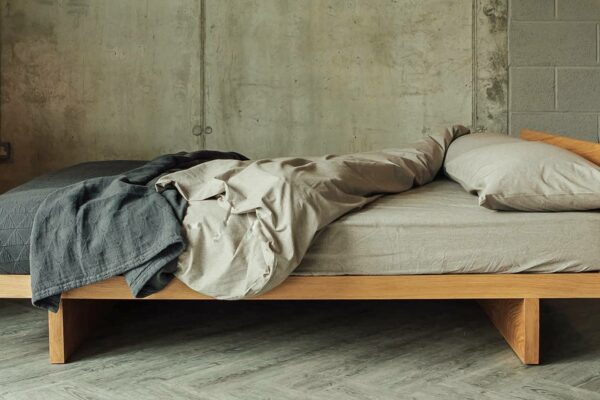The Kyoto is a solid wood bed frame made in Britain from sustainably sourced timber.
