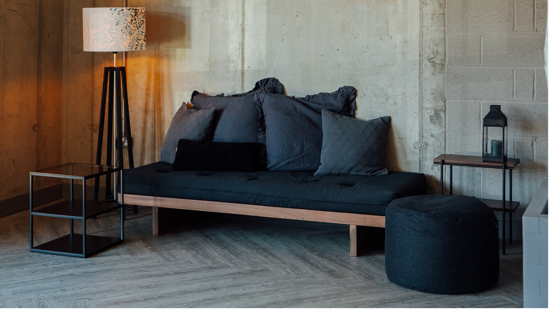 Hand made from solid timber this is the Kyoto futon day-bed in Walnut. Other woods available.