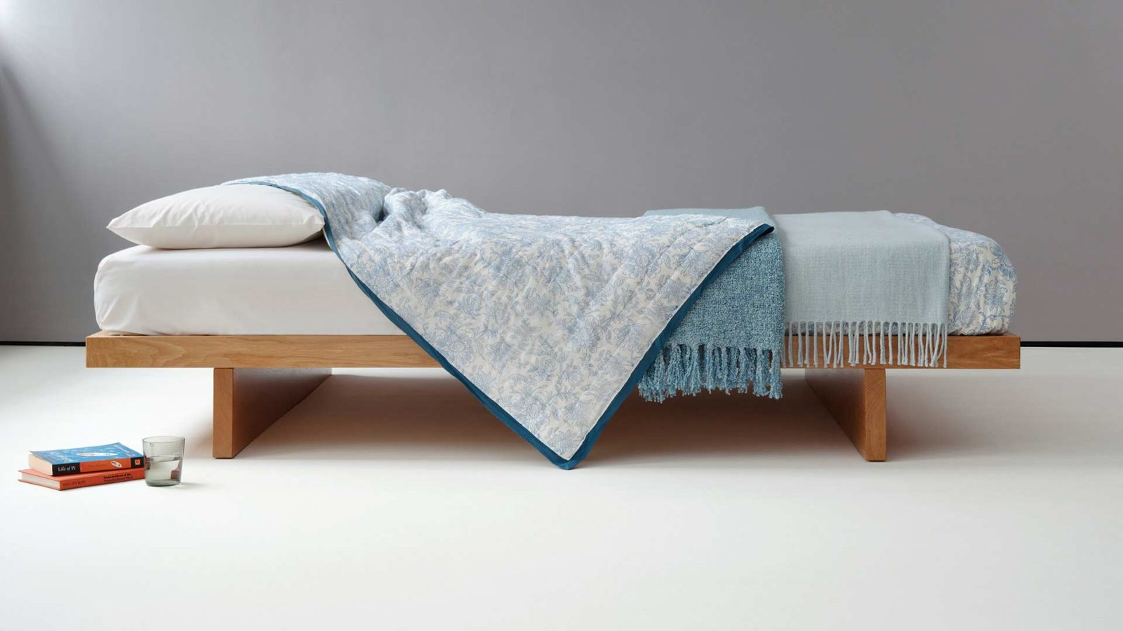 Kyoto Bed - Hand made in Britain with or without Headboard and in choice of timbers.