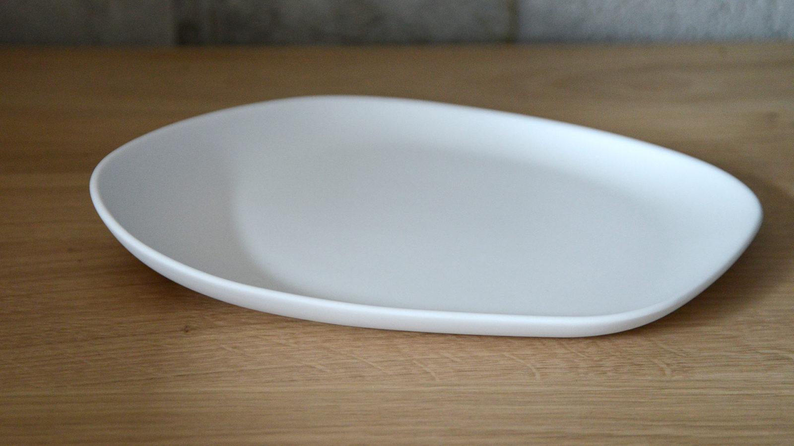 large matte white porcelain plate