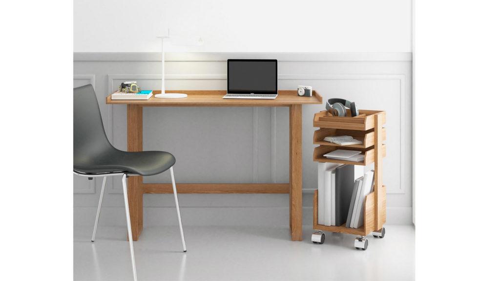modern oak desk