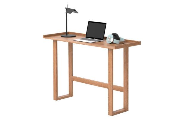 oak slim side table