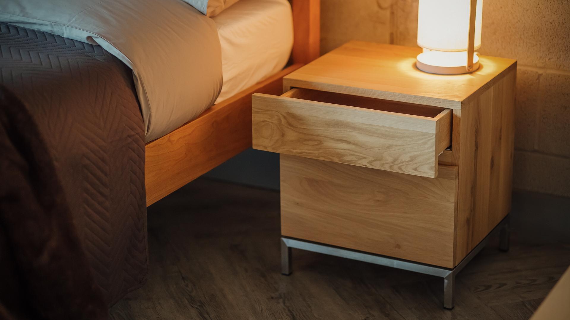 ligna oak bedside cupboard