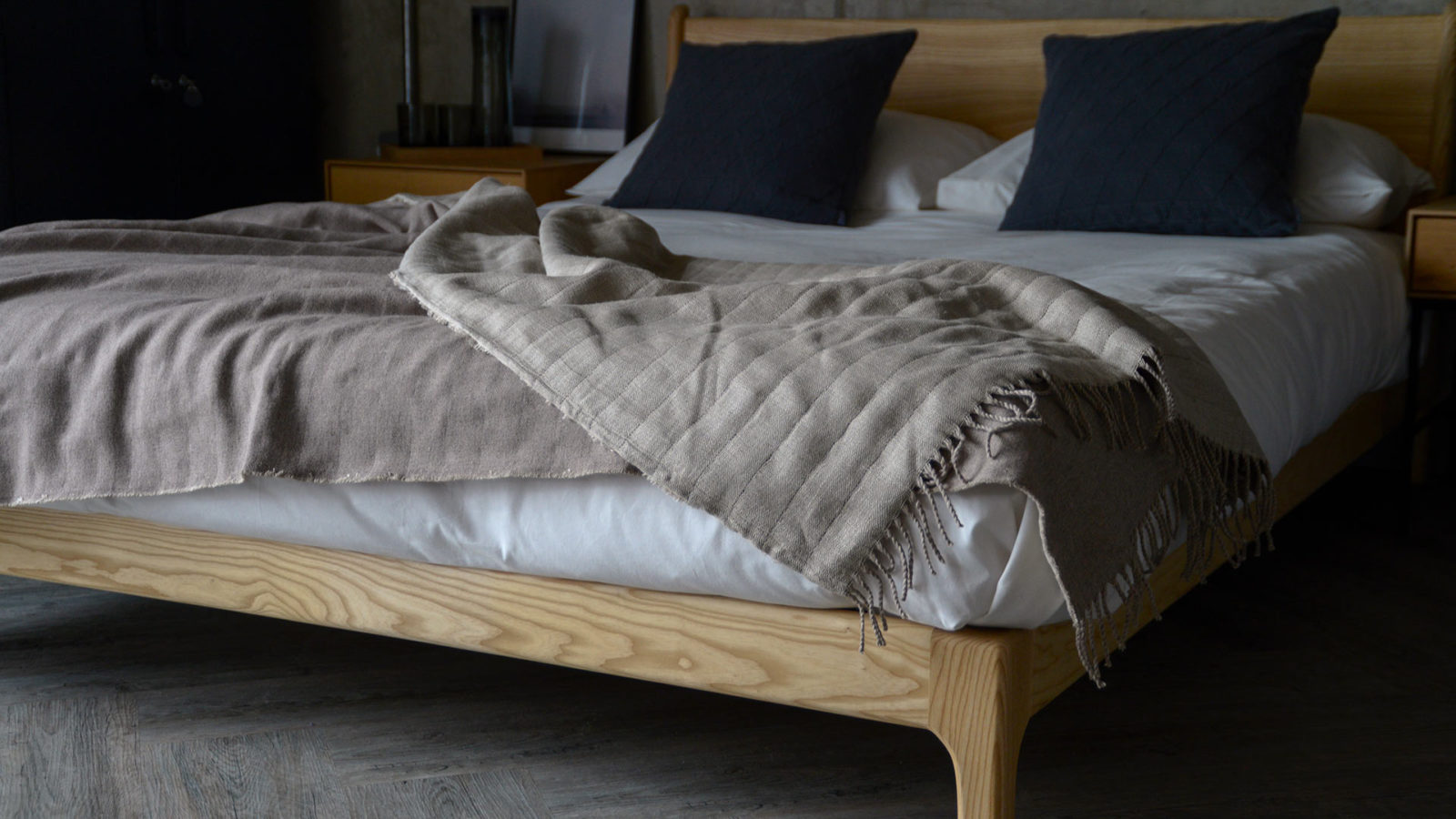 reversible wool and linen throws