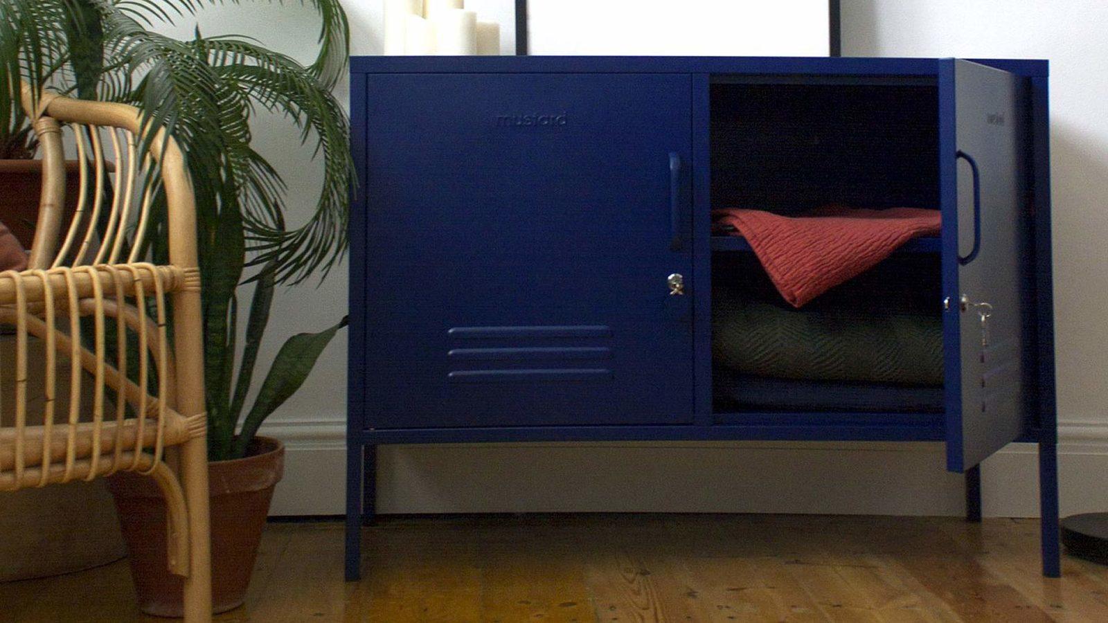 Low Navy Locker - Navy sideboard locker