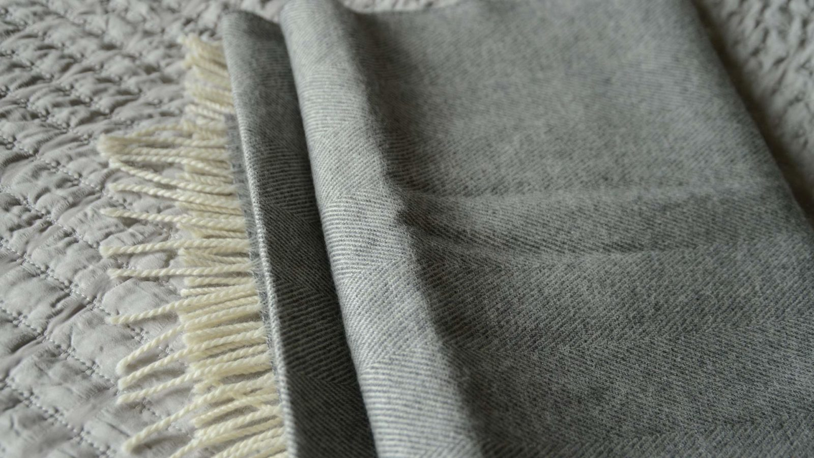 luxury merino lambswool bed runner