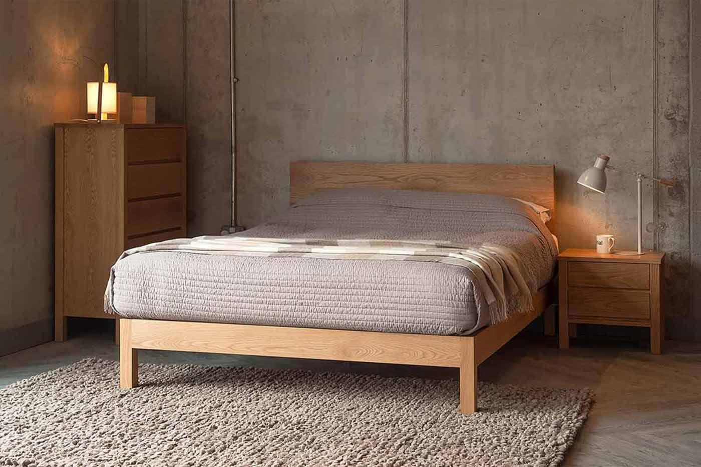 Malabar contemporary wooden bed - handmade in Sheffield