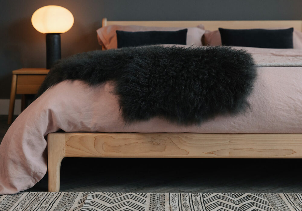 British made low mid century style Pimlico bed