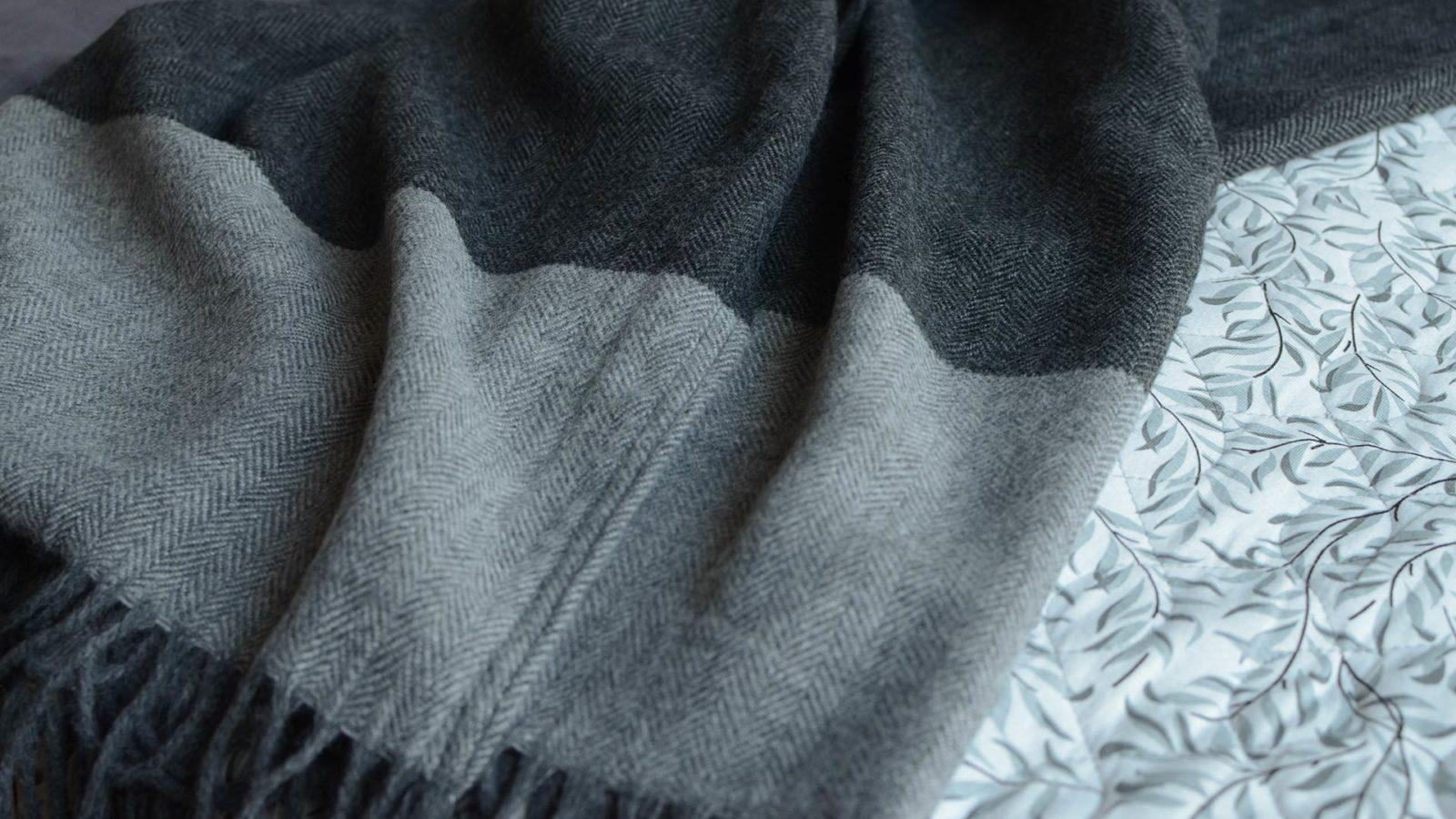 memo-herringbone throw-grey