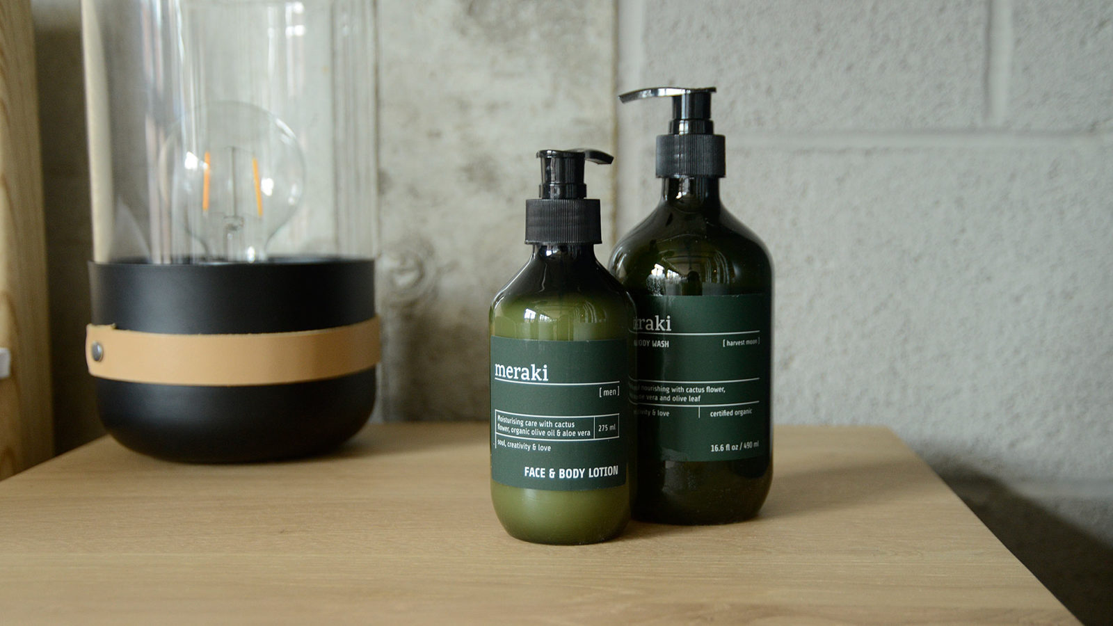 luxury herbal lotion and wash