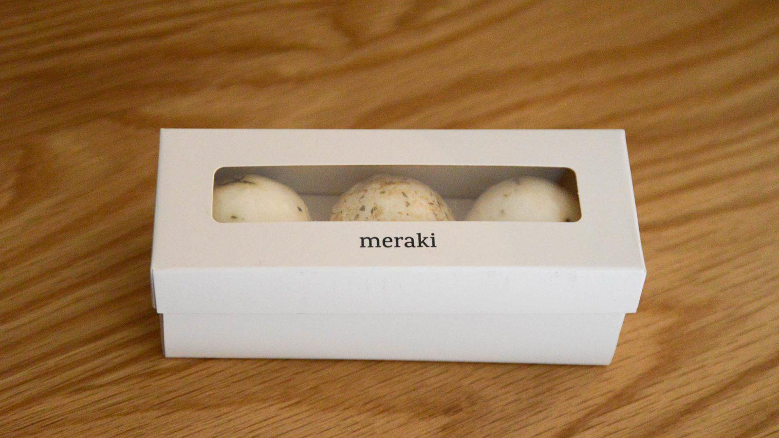 Meraki bath melts gift set