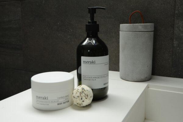 meraki body butter, wash and bath melt