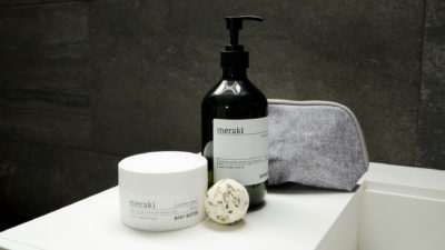 meraki body wash, body butter and bath melt