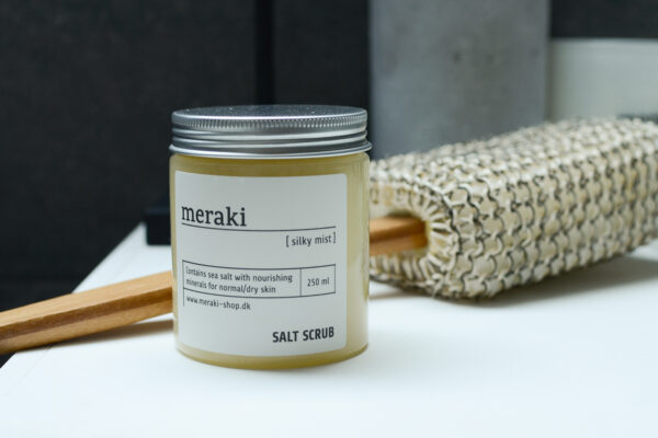 meraki exfoliator and scrub