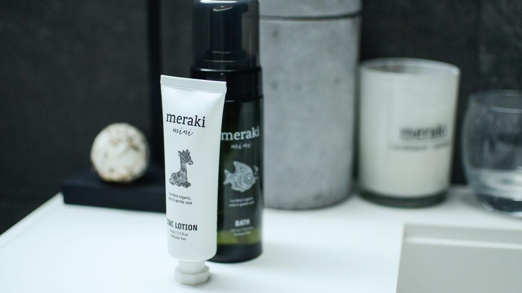 meraki mini organic bath foam and zinc lotion for babies