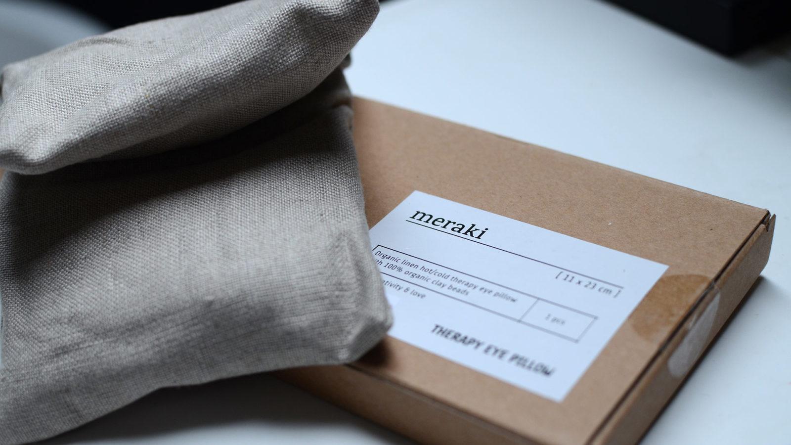 meraki organic linen soothing eye pillow