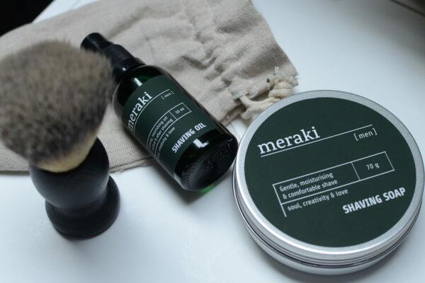 meraki-shaving-oil-with-brush-and-soap