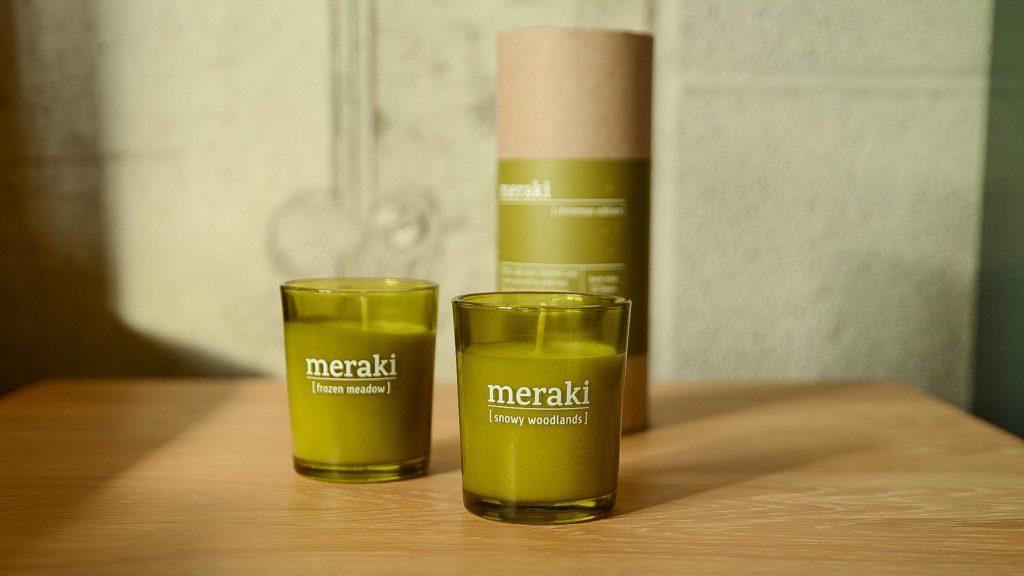 meraki Christmas scented candle gift set