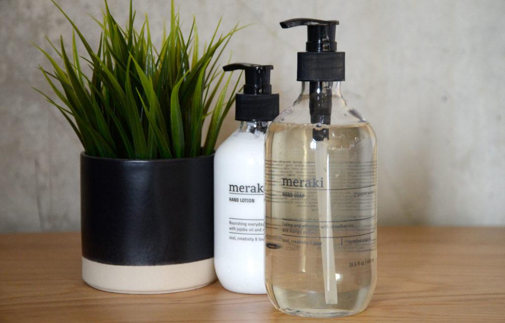organic hand lotion and liquid soap