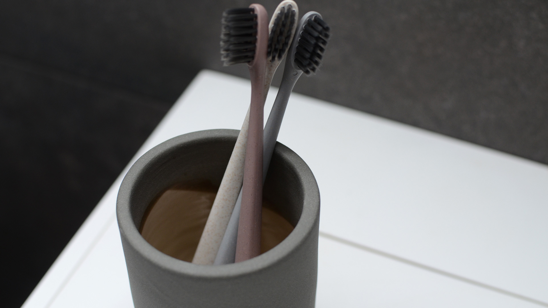 Toothbrush Set with Holder