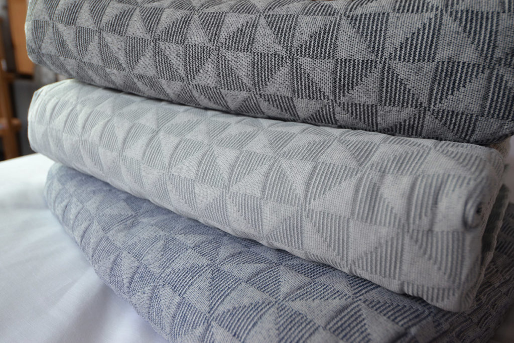 Butterfly textured bedspreads - blue, silver or charcoal