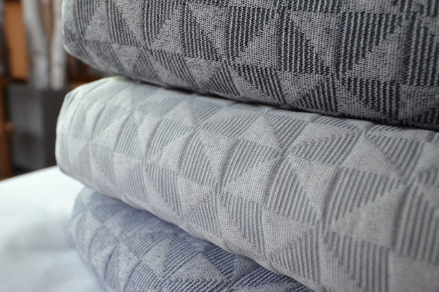 blue and grey-Butterfly-textured-bedspread