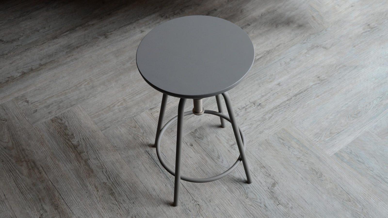 Adjustable modern grey stool