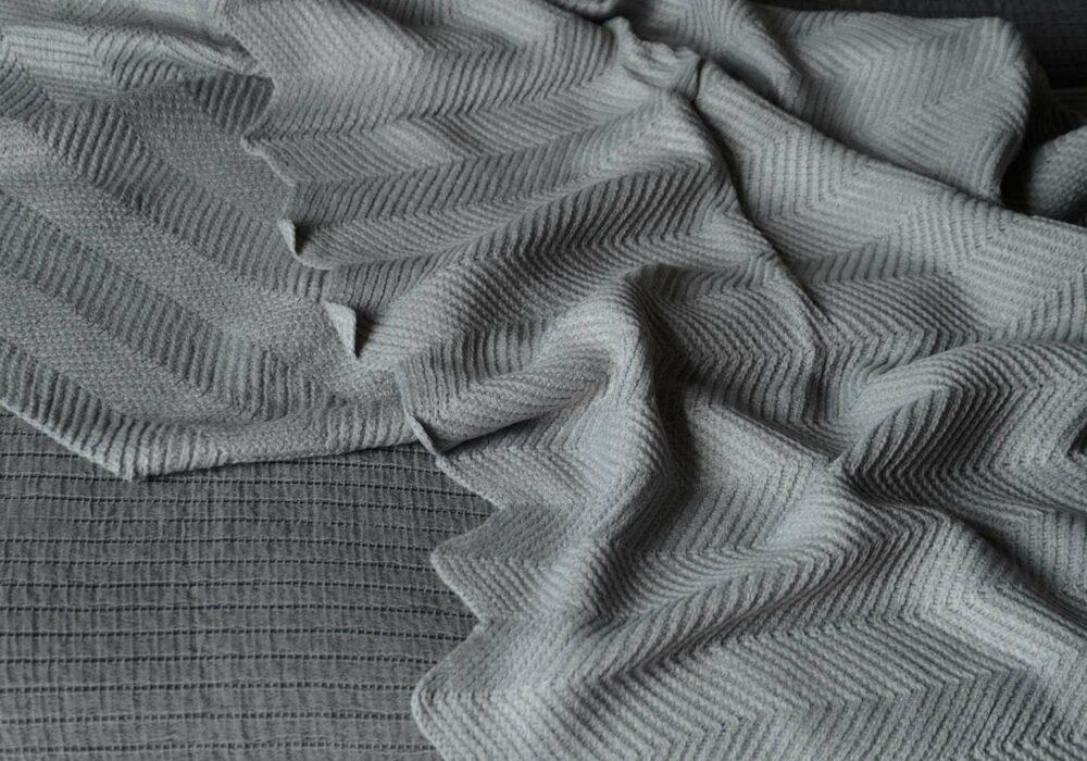 chevron knitted throw