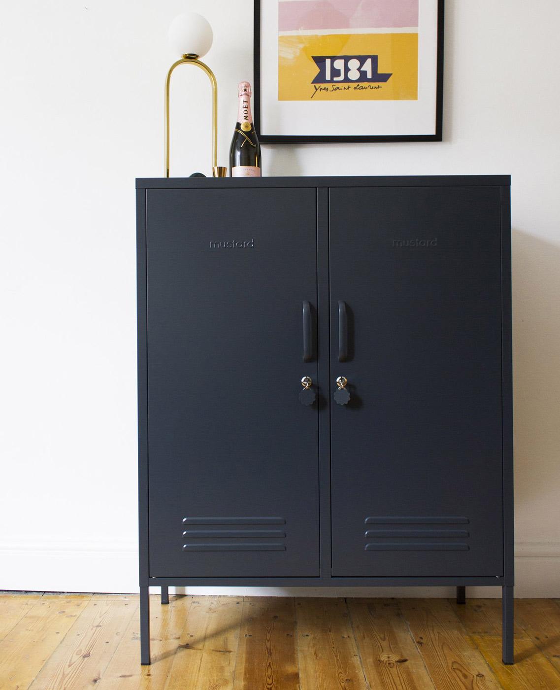 Midi locker in slate grey - Bedroom Storage