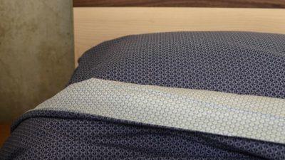 Sashiko Style Printed Duvet Set