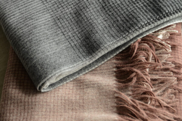 throw with recycled wool